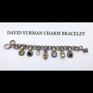 David Yurman Charm Bracelet Silver/Gold w/Charms